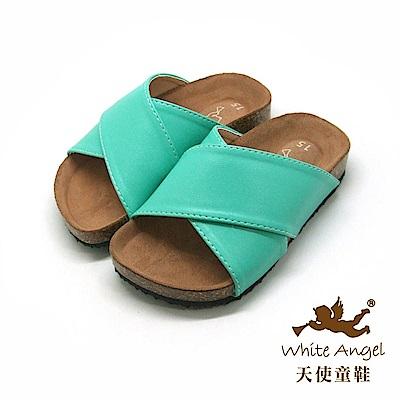 天使童鞋 X2氣墊親子拖鞋(中-大童)J89-綠