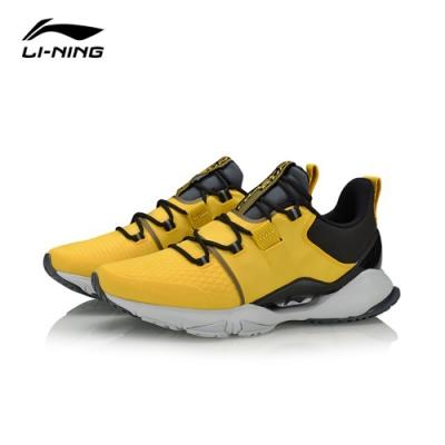 LI-NING 李寧 Crazy Run X 粉蝶黃標黑-男慢跑鞋(ARHQ009-1)