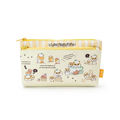 Sanrio 可樂鈴好朋友系列PU皮革雙層扁平筆袋