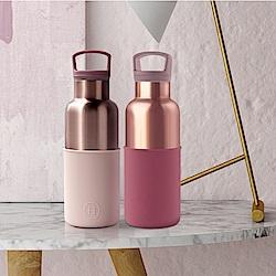 美國HYDY CinCin Déco雙杯保溫瓶組480ML-拿鐵/酒紅蜜粉金