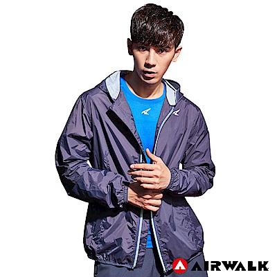 【AIRWALK】男款連帽風衣外套-深灰色