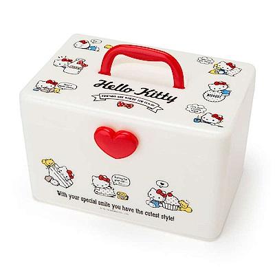 Sanrio HELLO KITTY雙層式PP收納提箱/化妝提箱(元氣生活)