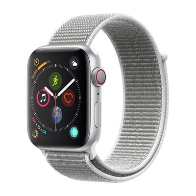 Apple Watch Series 4(GPS+網路)44mm銀色鋁金屬錶殼+貝殼白色運動錶環(MTVT2TA/A)
