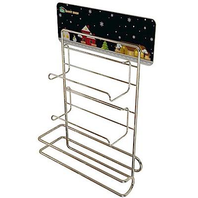 金德恩 台灣製造 居家收納-保鮮膜廚房紙巾放置架