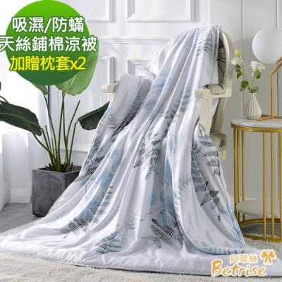 (限時下殺)Betrise-3M吸濕/防蹣抗菌天絲涼被5X6.5尺-加碼贈天絲枕套X2