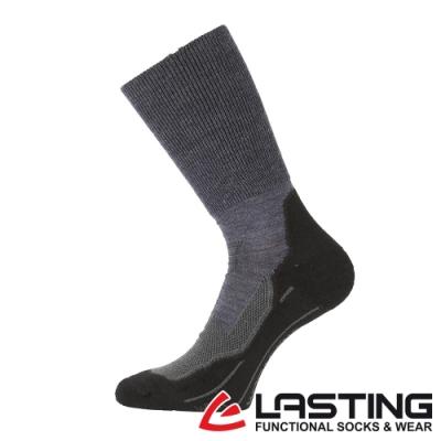 【LASTING捷克】男款美麗諾羊毛抗菌除臭吸濕排汗中筒襪/運動襪LT-WHK深灰