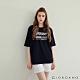 GIORDANO  女裝Mundane印花T恤 - 01 標誌黑 product thumbnail 1