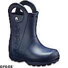 Crocs 卡駱馳 (童鞋) 經典提把雨靴-12803-410