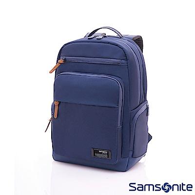 Samsonite新秀麗 Avant簡約筆電後背包(藍)