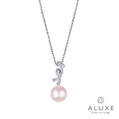 ALUXE 亞立詩 寵愛系列Beloved 19K金鑽石AKOYA珍珠項鍊
