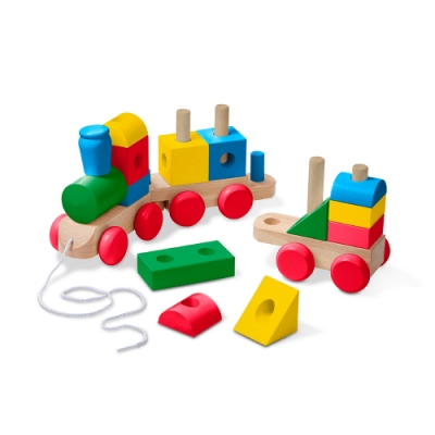 【美國瑪莉莎 Melissa & Doug 】家庭號建構積木火車 - 彩色
