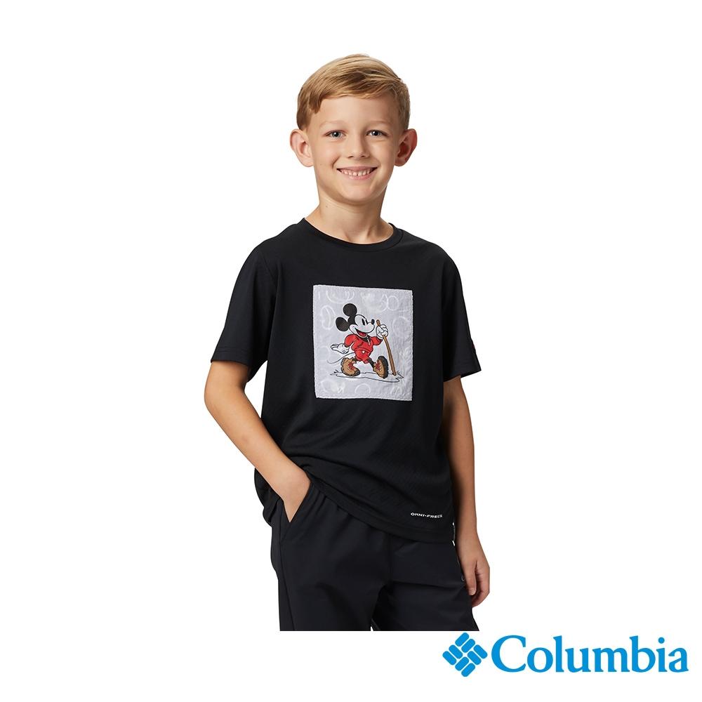 Columbia 哥倫比亞X Disney 童款-涼感防曬30快排短袖排汗衫-黑色 UAY00380BK