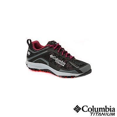 Columbia 哥倫比亞 女款-鈦OD防水健走鞋-黑色UBL45910BK