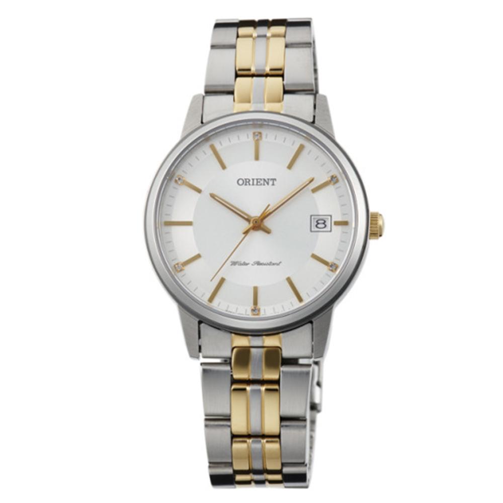ORIENT東方錶 天生絕配藍寶石石英女錶鋼帶(FUNG7002W0)-白x32mm
