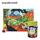美國Crocodile Creek 生物主題學習桶裝拼圖-侏儸紀公園
