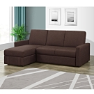 MUNA 凱尼L型咖啡色多功能收納布沙發/沙發床 188X140X82cm
