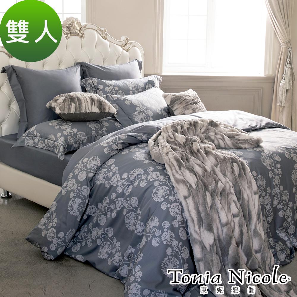 Tonia Nicole東妮寢飾 北國初雪環保印染100%高紗支長纖細棉被套床包組(雙人)