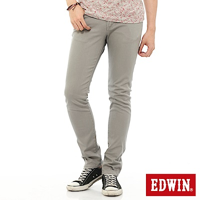 EDWIN EDGE 乾爽COOL 窄直筒色褲-男-淺灰