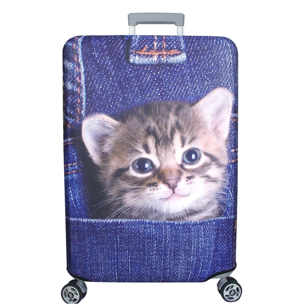 新一代 口袋牛仔貓行李箱保護套(25-28吋行李箱適用)一個