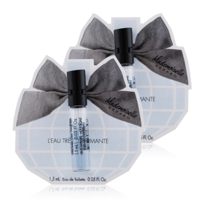 *AZZARO MADEMOISELLE 夢幻晶采女性淡香水1.5mlX2-隨身針管試香