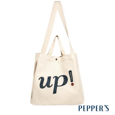 PEPPER S Light Up 字母帆布托特包