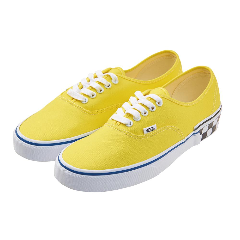 (男)VANS Authentic 潮流素面綁帶休閒鞋*黃色