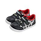 迪士尼 米奇 復古滿版造型 魔鬼氈板鞋-黑