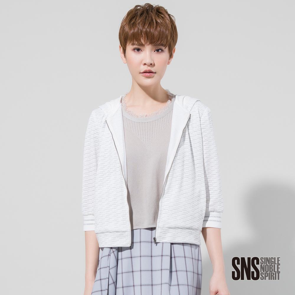 SNS 斑斕璀璨金屬絲混紡連帽外套(2色)