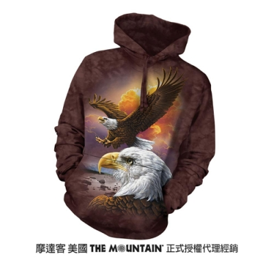 摩達客 美國進口The Mountain 鷹與雲 長袖連帽T恤