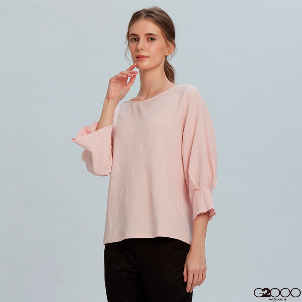 G2000素面短袖休閒T裇-粉紅色
