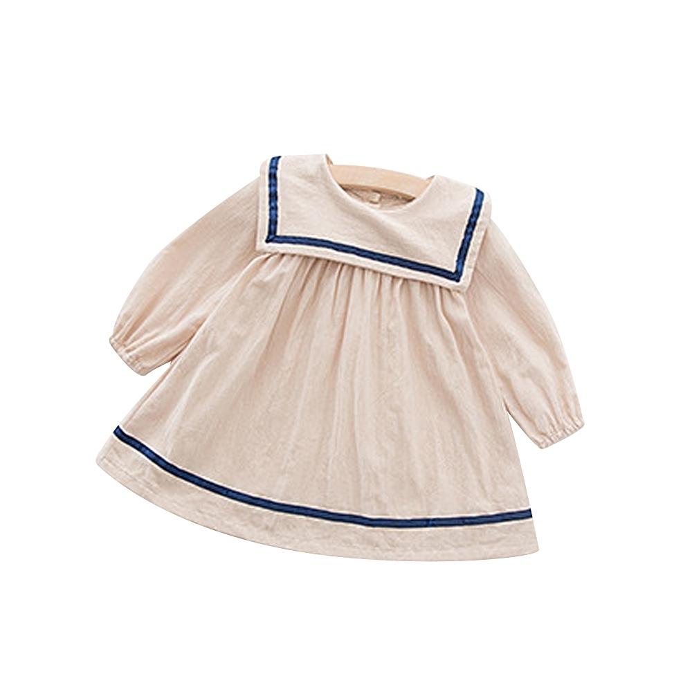Baby童衣 女童學院風氣質長袖洋裝 88563