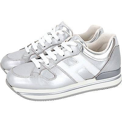 HOGAN H222 銀色厚底繫帶休閒鞋