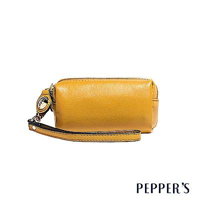 PEPPER`S Olivia 羊皮雙拉鍊零錢包 - 芥茉黃