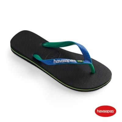 Havaianas 哈瓦仕 拖鞋 夾腳拖 人字拖 巴西 男鞋 女鞋 黑/星空藍 4123206-3768U Brasil Mix 雙色 國旗
