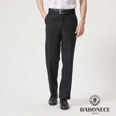 BARONECE 百諾禮士休閒商務  男裝 彈性平口西裝褲--黑色(1188865-99)