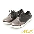 MK-金屬撞色休閒德比懶人鞋-灰色 (兩色)