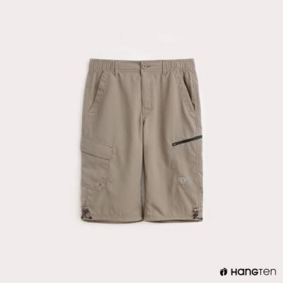 Hang Ten-ThermoContro-男裝側拉鍊口袋機能短褲-卡其