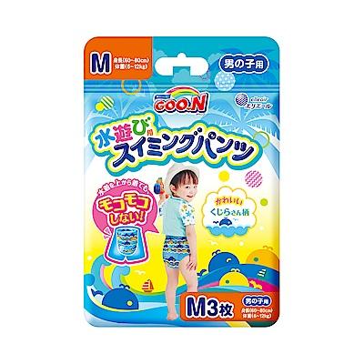 GOO.N 日本大王戲水褲(游泳專用紙尿褲)男M3-片/包