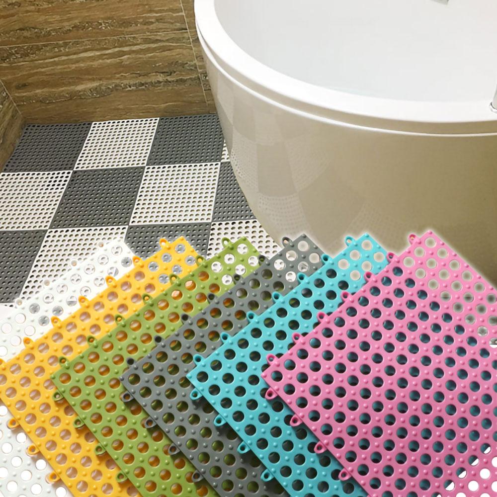 EZlife 浴室防滑拼接地墊30片組(贈高級純棉桌巾)