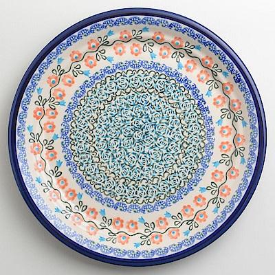 【波蘭陶 Zaklady】 紅花綠蔓系列 圓形餐盤 25cm 波蘭手工製
