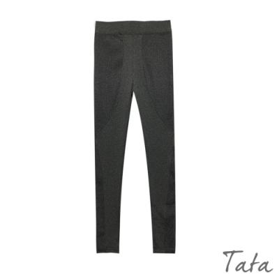 拼接坑條彈力顯瘦內搭褲 共二色 TATA-(M/L)