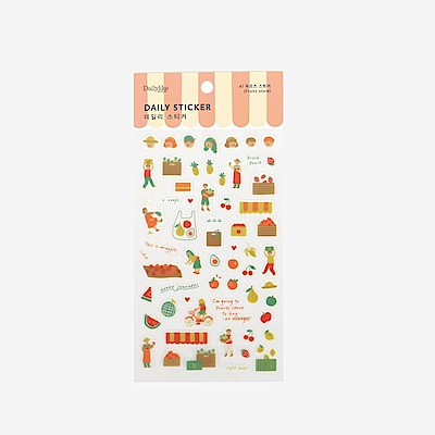 Dailylike 日日美好裝飾透明貼紙-41水果店