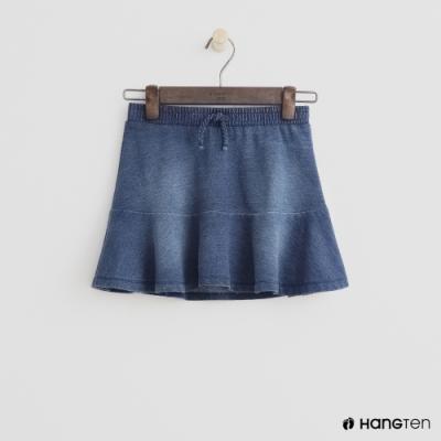 Hang Ten -童裝 - 鬆緊單寧短裙 - 藍