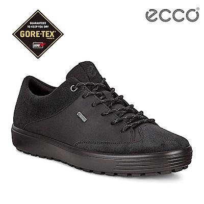 ECCO SOFT 7 TRED M 街頭風格防水款休閒鞋 男-黑