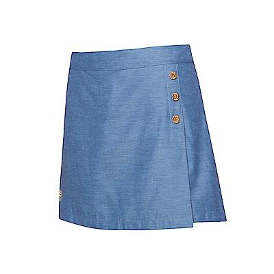 FILA 女款平織短裙褲-深藍 5SKT-1712-DB