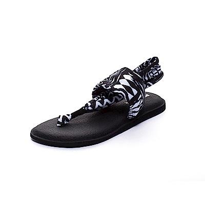ROCKY BEAR 花漾瑜珈墊夾腳涼鞋-黑白印花(女)