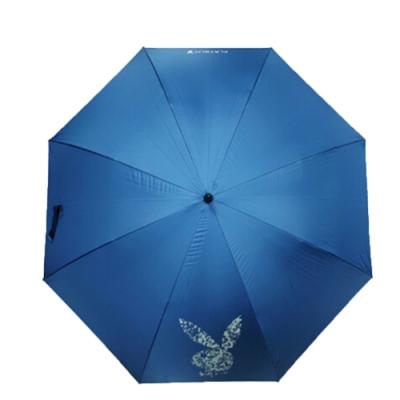 【PLAYBOY】RA47012BU技壓群雄大傘面彎 柄晴雨傘藍色(傘面外徑152CM)