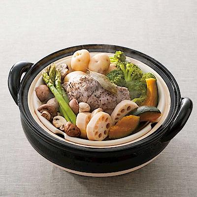 長谷園伊賀燒-冷熱料理兩用-遠紅外線健康蒸鍋(3-5人份)