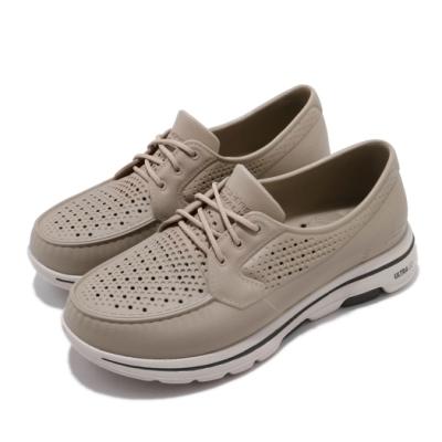 Skechers 休閒鞋 Go Walk 5 Cruiser 男鞋 套入式 雨天必備 好穿脫 懶人鞋 緩震 黃褐 米 243001TPE