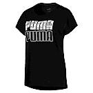 PUMA-女性基本系列Modern Sport短袖T恤-黑色-亞規